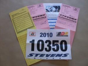 RTF-Wertungskarten und Startnummer