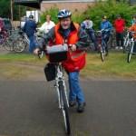 Start zur Familienradtour mit Willi Schmitt