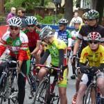 """Felix Wannovius beim Start zum Radrennen """"Rund um den Prinzenpark"""""""