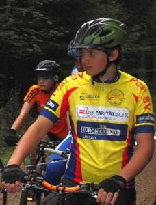Felix Wannovius am Start zum MTB-Rennen in Norderstedt