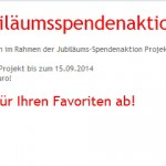 Jubiläumsspendenaktion