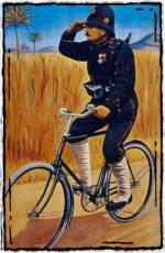 Schutzmann auf Fahrrad