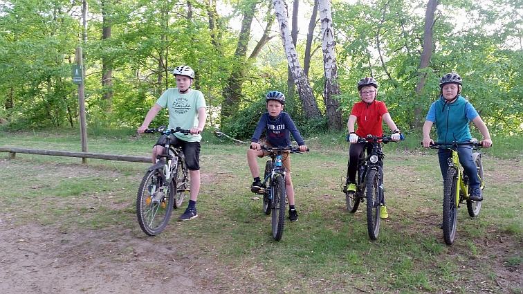 Die Mountainbike-Gruppe freut sich über weiteren Zuwachs